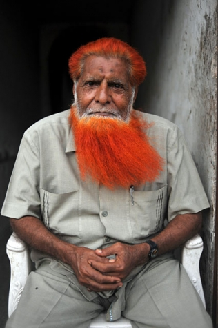 L'homme à la barbe orange